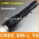 1200 Lumen CREE XML T6 Zoomable LED Flashlight / LED Torch