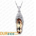 Romantic crystal Pendant Necklace For Party