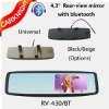 4.3 inch universal bluetooth car mirror monitor