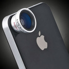Silver color wide macro zoom mobile phone camera lens for Iphone 4 4s 5s