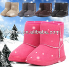 Warm fashion kids' snow short boots for winter wear