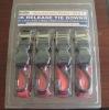 """4pk blister packing 1"""" 1500LBS ratchet lashing belt"""