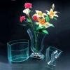 2012 popular environmental acrylic pure flower vase