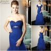 JM0174 New design sweetheart beaded waist royal blue mother of the bride dress