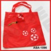 190T polyester foldable bags-football shape