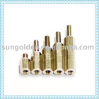 fin thread brass rivet