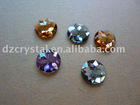 crystal findings and components,crystal flat back beads