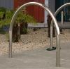 outdoor steel bicycle parking rack