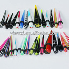 New HOT wholesale piercing jewery ear gauges straight printed Acrylic ear taper uv ear expander