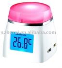 USB Multi-color LCD clock