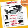 Free Shipping 4GB 4 IN Camera +video +MP3+Bluetooth Sunglass ,hidden camera