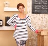 OBM Factory Manufactory Autumn Striped Blouse Casual Wear Top Maternity Clothing Long Sleeve T-shirt Nursing Access(AK005)
