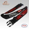 Fashion Woven Logo Travel luggage Belt With Lock