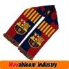 Football Jacquard Acrylic Knitted Scarf