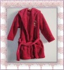 100 polyester brushed polar fleece apa bathrobe
