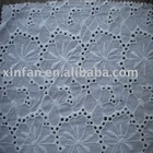 cotton embroidered fabric with holes