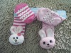 Baby 3D Terry Socks Squeaky Toys