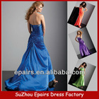 LND28 Long Beaded silk satin lace up back fashion prom dresses