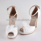 BS598 ivory peep toe bridal wedding shoes