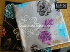 100% Polyester Flower Printed Cushion