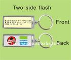 two sides flash solar keychains (Shenzhen manufacturer)