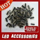 Single In-line Pin,for RGB Led Strip Black 0.6 Round Needle Distance 2.54 1000pcs/lot Wholesale