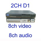 H.264 Standalone Dvr 8 Ch Video 8 ch audio 200/240 FPS 2ch D1 CIF realtime