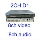 H.264 Standalone Dvr 8 Ch Video 8 ch audio 200/240 FPS 2ch D1 CIF realtime