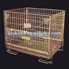 European wire container/Heavy duty wire cage/wire mesh basket/mesh containers/wire mesh cage/Folding mesh container
