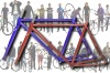 700C fixed gear bike frame,many color,steel or cr-mo