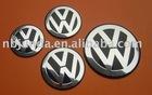 Car wheel center badge