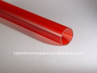 borosilicate clear and colored red glass tube