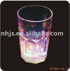 flashing colored stem wine glass