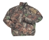 Mens 100% Poly Polar Fleece Camo Print Half Zip Hunting Jacket