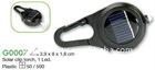mini solar flashlight