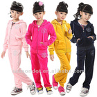 Girls velour hoodie and pants set