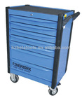 A tool trolley with 7 drawers for convenient and portable use