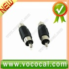 2 pcs Male-Male RCA Jack Connector, In-Line Splice Adapter