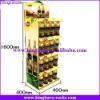 KingKara metal steel supermarket rack for bottle drinking