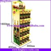 KingKara metal steel supermarket rack for bottle drinking