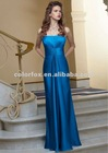 Exquisite Celeste Silky Chiffon Strapless Long Bridesmaid Dress