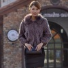 Women sheared Rabbit fur jacket with fur collar