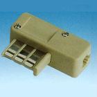 French telephone plug with modular jack