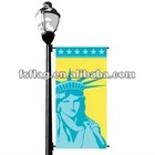 100D polyester statue of liberty street banner
