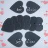 Blackboard marker in heart shape by natural slate