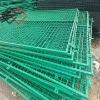 Framed welded mesh fence