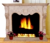 indoor granite fireplace