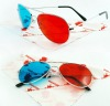 Aviator frames anaglyphic 3d glasses