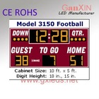 indoor high quality GYM 7 segment led scoreboard for sale