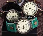 vintage handmade leather wrap watch